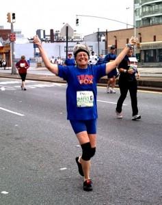 Marie Spodek running her first marathon