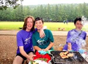 North Korean barbecue at frisbee tournament