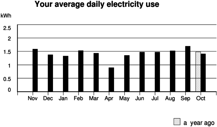 My electric usage